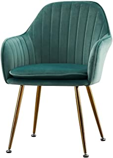WPF ZTT Silla de Comedor habitación, Silla de la Cocina Sillón con Respaldo, de sillas de Comedor Cocinas Salas de Estar Habitaciones Bares Casas de Vacaciones (Color : Green)