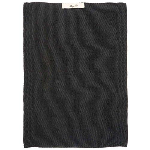 IB Laursen Handtuch gestrickt Mynte schwarz