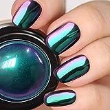 PrettyDiva Chameleon Chrome Nail Powder - Ombre Chrome Nail Pigment Powder Mirror Finish, Color Shifting Pigment with Multi-chrome Nail Powder - Fairy