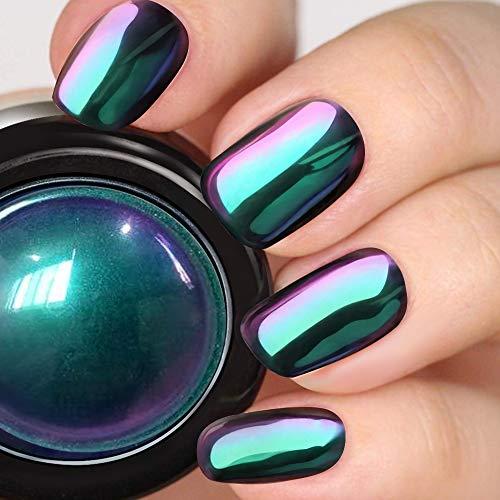 PrettyDiva Chameleon Chrome Nail Powder - Ombre Chameleon Powders Chrome Nail Pigment Mirror Finish, Color Shifting Nail Pigment with Multi-Chrome Nail Powder - Fairy