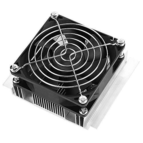 Placa de refrigeración de semiconductores, 12V 6A 72W Kits de bricolaje de refrigeración de semiconductores Enfriador de placa fría termoeléctrica Peltier con ventilador