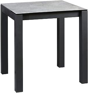 AltoBuy Sixtine - Table Snack Carrée 100cm Aspect Céramique