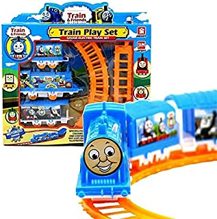 ORiTi Electric power Rushed Trains Cars Kids Toys Thomas Train Set And Electric Track Toy Small Splicing Rail