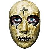 Ubauta Máscara de Purga de Terror de la Cruz Gris para Hombres, la película The Purge Anarchy, Fiesta de Disfraces de Disfraces de Halloween, Solo Adecuada para niños