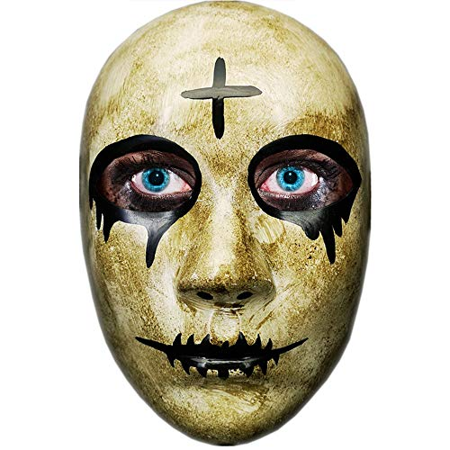 """Verschiedene Masken für Paare, Motive: Kreuz, """"God"""" und """"Kiss Me"""", bekannt aus dem Film """"The Purge: Anarchy"""", für Halloween-Kostümparty, passend für die meisten Erwachsenen und Jugendlichen"""