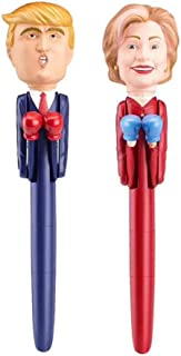 HomMall Hillary & Trump Talking Pen, Donald Trump Pen Stress Relief Talking Boxing Pen Funny Toy for Kids and Adults( 2Pcs)