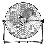 Cecotec Ventilador Industrial EnergySilence 4300 Pro, 110 W, 3 Aspas Metálicas de 18' (45 cm), 3 Velocidades, Motor de Cobre, Ajustable, Acabado Cromado