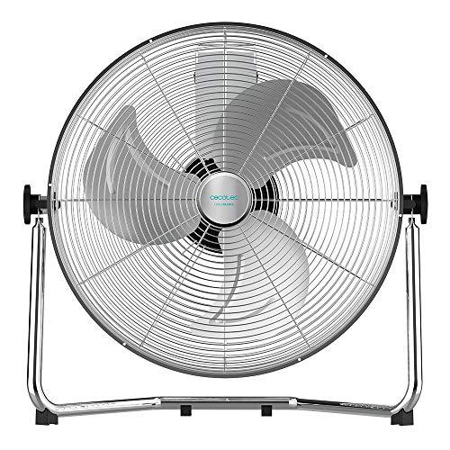 """Cecotec Ventilador Industrial EnergySilence 4300 Pro, 110 W, 3 Aspas Metálicas de 18"""" (45 cm), 3 Velocidades, Motor de Cobre, Ajustable, Acabado Cromado"""