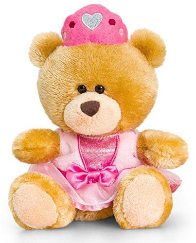 Lashuma Plüschtier Bär, Pipp The Bear als Prinzessin, Kuscheltier Teddy bekleidet, Teddybär braun 14 cm