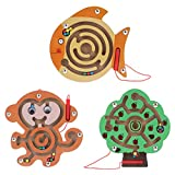 STOBOK 3Pcs Tallone Labirinto Magnetico di Puzzle di Pesce Scimmia Forma di Albero Magnete...