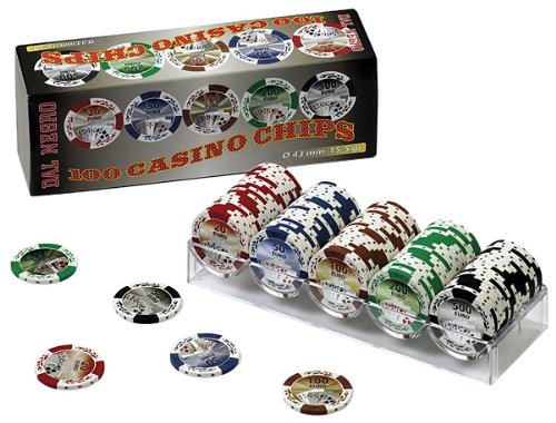 Dal Negro 02580 - 100 Casino Chips, 43 mm, 15.5 gr, Valore 20 - 500