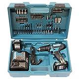 Makita HP333DSAX1 Taladro atornillador inalámbrico 12 V máx. 2 baterías y cargador en maletín de...