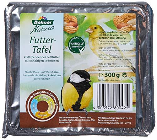 Dehner Natura Wildvogelfutter-Tafeln mit Erdnüssen, 12 x 300 g (3.6 kg)