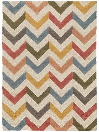 Benuta Wollteppich Windsor, Wolle, Multicolor, 120 x 170.0 x 2 cm