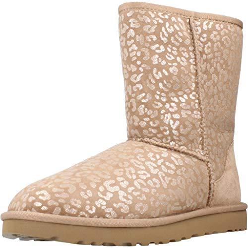 UGG Damen Classic Short Snow Leopard Klassische Stiefel, Amphora, 38 EU
