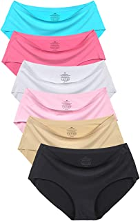 Agdoizry Women's No Show Hiphugger Panties Pack of 6