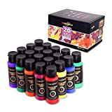 Acrylic Paint Acrylic Paint Set for Canvas, Wood, Fabric, Leather and Crafts, 20 Vibrant Acrylic Colors 2OZ