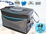 POLAR PACK Extra Large 48 Can Collapsible Cooler Bag Soft Portable Insulated Picnic Bag Outdoor Indoor Travel Lunch Bag for Camping Hiking Events School Travel Concerts & Sports (Black/Char/Turq)…