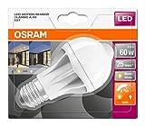 Osram LED Star+ Motion Sensor Classic A Lampe, in Kolbenform mit E27-Sockel, integrierter Bewegungssensor, Ersetzt 60 Watt, Matt, Warmweiß - 2700 Kelvin, 1er-Pack - 3