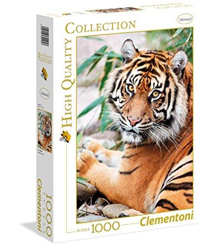 Clementoni 39295.7 - 1000 T Collection Tiger, Klassische Puzzle