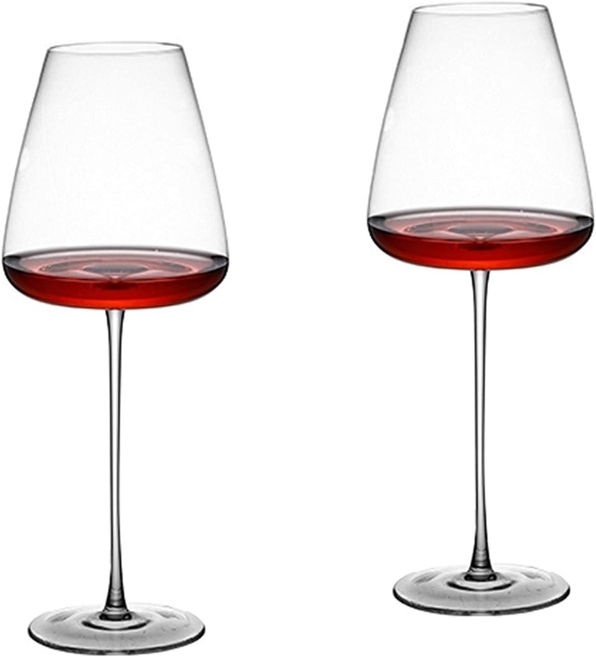 shiqi 2PCS Copas de champán Copos Europeos 2 Copas de Vino supersizadas de Borgoña 1 Pareja de Gafas de Cristal (Capacity : 2PCS, Color : 1000ML)
