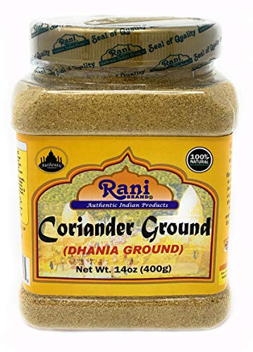 Rani Coriander Ground Powder (Indian Dhania) Spice 2.5oz (70g) PET Jar ~ All Natural, Salt-Free | Vegan | No Colors | Gluten Friendly | NON-GMO | Indian Origin