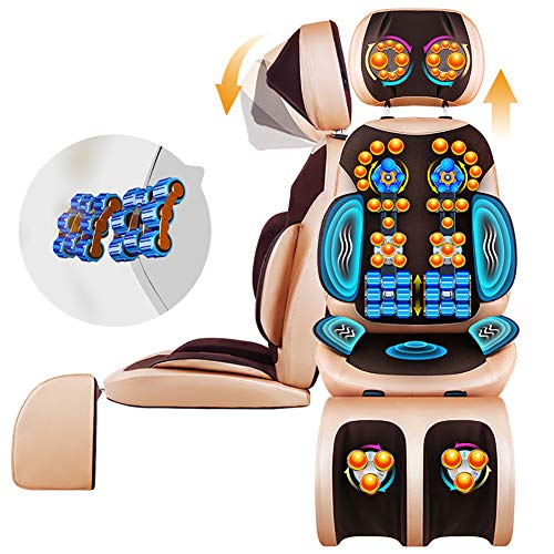 FHTD 4D Shiatsu-Massagesessel Multifunktions-Ganzkörper-Elektroheizung Massagekissen Maschine Cervical Zurück Vibrieren Roll-Kissen