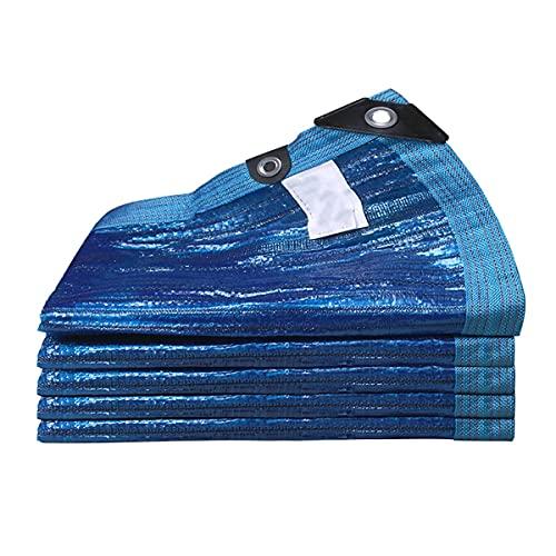 Toldo Vela De Sombra, 90% Malla Sombreadora Paño De Sombra, Red De Sombreado para Plantas De Jardín, Patio, Césped, Flores Al Aire Libre, con Ojales, Fácil De Colgar (Color : Blue, Size : 4mx16m)