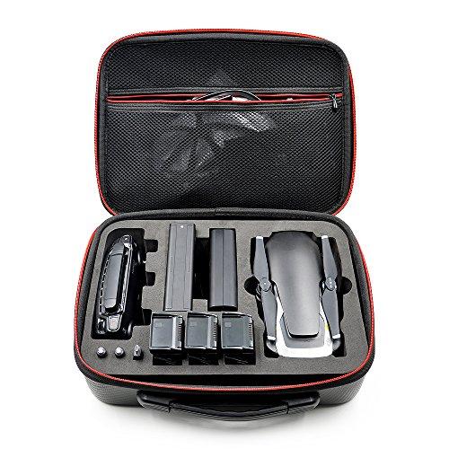 YSTFLY Waterproof PU Handbag Storage Bag Carrying Case for DJI Mavic Air Drone Controller 3 Batteries Accessories
