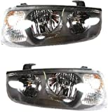 Evan-Fischer EVA13572056376 Direct Fit Headlight Head Lamp Set of 2 Composite Clear Lens Halogen with Bulb(s) Driver and Passenger Side Replaces Partslink# HY2503122, HY2502122 headlight bulbs Feb, 2021