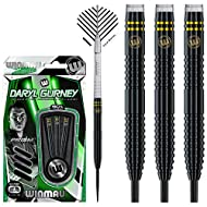 Set of 3 x 23g - 90% premium quality Winmau tungsten steeltip darts set Winmau Prism Force shafts & Winmau Specialist Player flights High end Winmau point protector Featuring Winmau's classic Onyx performance coating and 24 carat gold plating Daryl G...