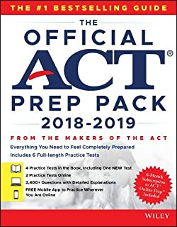 The Official ACT Prep Pack with 6 Full Practice Tests (4 in Official ACT Prep Guide + 2 Online)