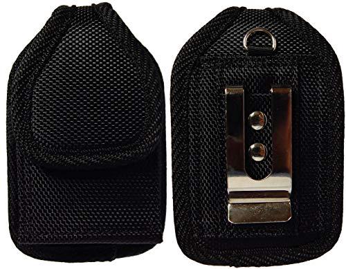 Premium Classic Style Tasche mit Gürtelclip für Tandem Diabetes Care Insulinpumpe (T:Flex Pump/T:Slim G4 Pump/T:Slim X2 Pump) (schwarz/vertikal/2)