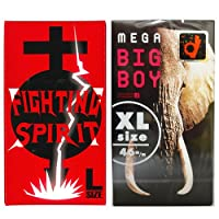 Lサイズ コンドーム セットmega BIG BOY(メガ ビッグ ボーイ) (12個入) + ファイティングスピリット (12個入)