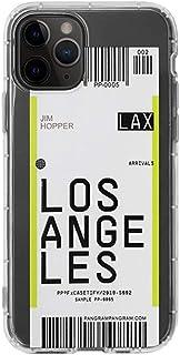 ファッション IPhoneケース11、ニューヨーク航空券TPU iPhoneとの互換性11 Proのケースは、ウルトラスリム軽量で耐スクラッチ プレゼント 女の子向け (Color : Los ange Les, Size : IPhoneXs Max)