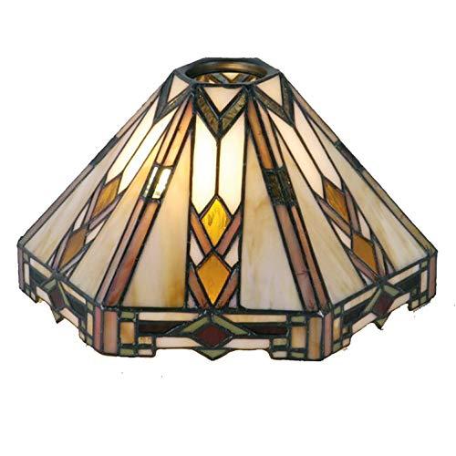 Lumilamp 5LL-9113 Tiffany Stil - Pantalla de lámpara (Hexagonal, 26 x 22 x 15 cm, E27, 6 cm)