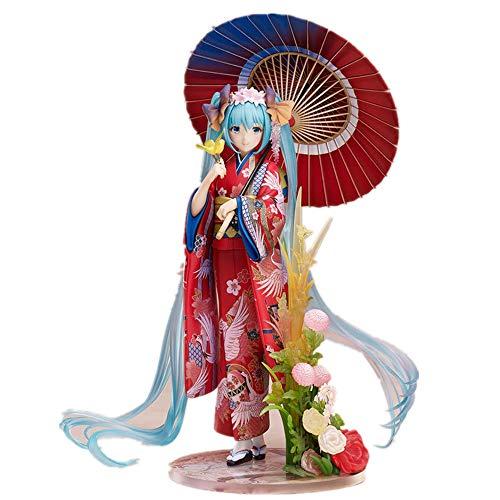 From HandMade Hatsune Miku Figura Miku Kimono Figura Anime Girl Figura Figura de acción