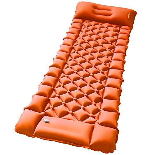 FRETREE エアーマット エアマット キャンプマット アウトドアマット 車中マット テント キャンプ 軽量 フットポンプ付き 枕付き 折り畳み 連接可能 コンパクト 防水防潮 防災