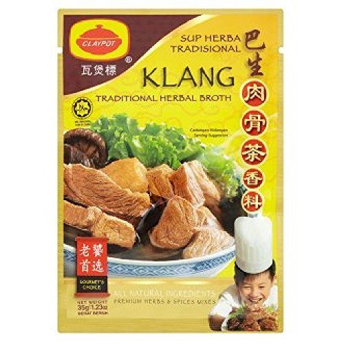 Claypot Herbs & Spices Mix/Aromatic Soup Mix/Traditional Herbal Broth (628MART) (Klang Traditional...