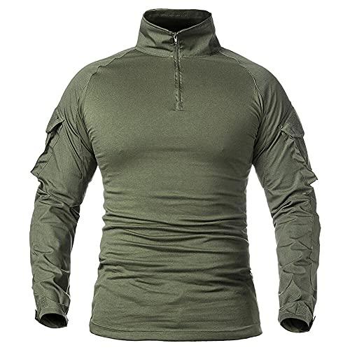 Camiseta táctica de manga larga para hombre