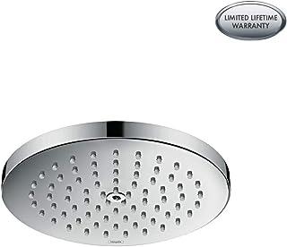 hansgrohe Raindance S 7-inch Showerhead Low Flow Modern 1-Spray PowderRain Water Saving with QuickClean in Chrome, 27629001