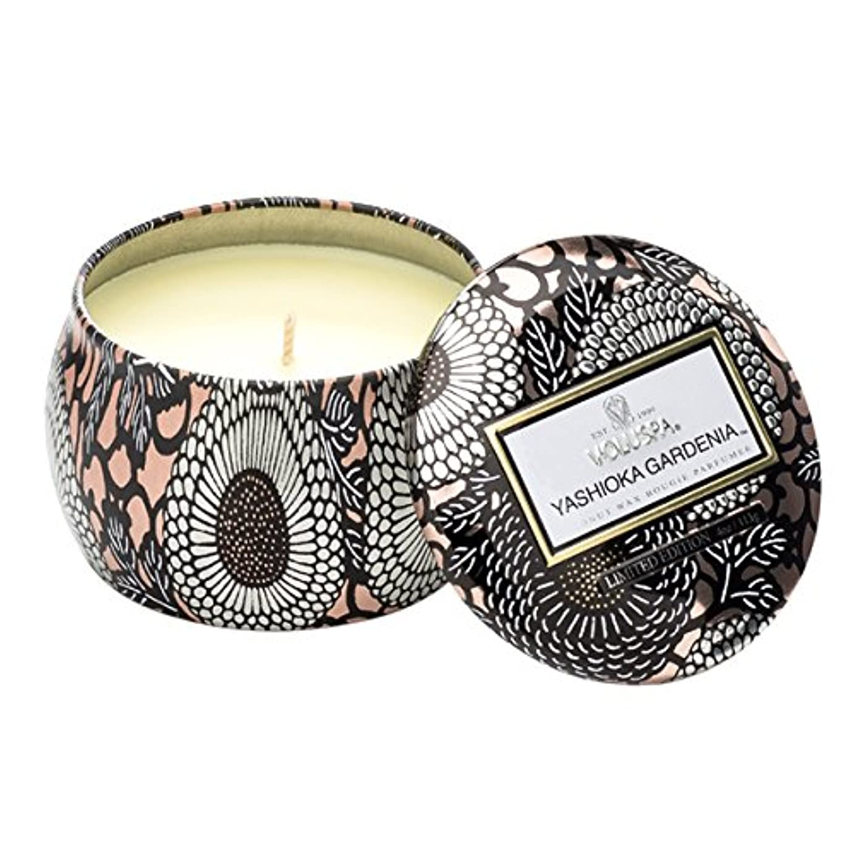 等センチメンタル月面Voluspa ボルスパ ジャポニカ リミテッド ティンキャンドル  S ヤシオカガーデニア YASHIOKA GARDENIA JAPONICA Limited PETITE Tin Glass Candle