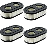 4 filtros de repuesto para cortacésped Briggs Stratton – Filtro de aire de repuesto para cortacésped 798452 593260 5432K