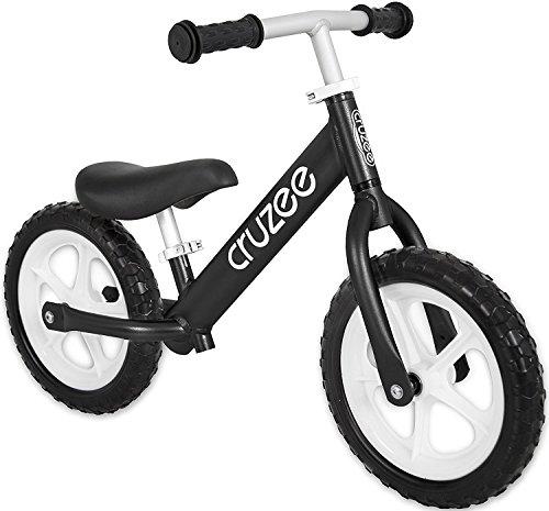 Cruzee BLACK - UltraLeicht Laufrad (1,9 kg) fur kinder ab 1.5 bis 5 Jahre