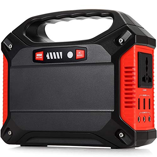 C&L Portable Generator Power Inverter 42000mAh 155Wh Rechargeable Battery Pack Emergency Power Supply, 220V AC Outlet 3 DC 12V USB Port