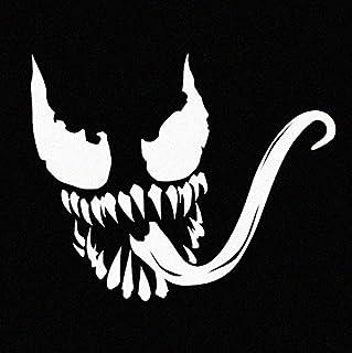 Stick'emAll Venom Superhero Supervillain - White Vinyl Decal