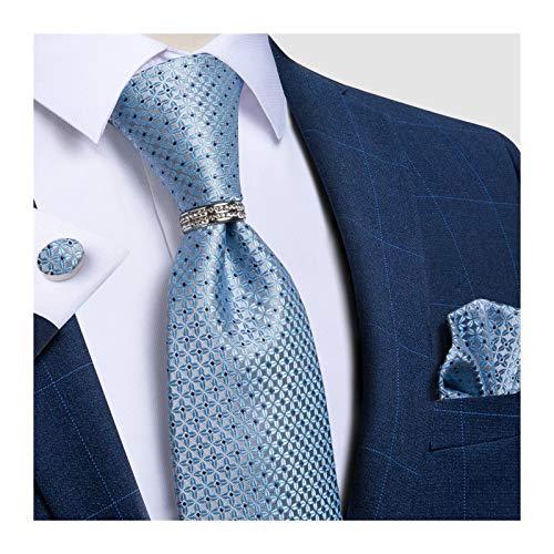 Without Corbatas Lazos para Hombres Fiesta de la Boda Floral roja clásica del diseñador Hombres de Seda Armada Juego Lazo Negocios Ropa Formal Corbata pañuelo Conjunto for los Hombres (Color : 5)