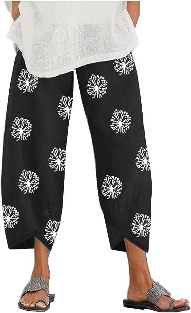 Ladyful Phoenix Mall Women's Printed Capri Pant Yoga Elastic Beach Jo Waisted Outlet SALE