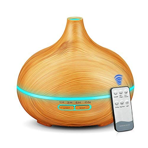 Umidificador De Ar 300ml Aroma grão de madeira com luzes LED Difusor do Óleo Essencial de Aromaterapia