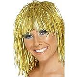Gemz Fancy Dress-Cyber Pams of Gainsborough-Parrucca in canutiglia, colore: oro